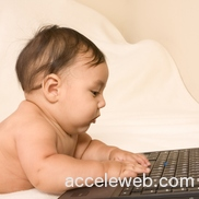 Baby with computer 2